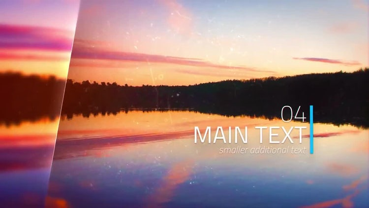 Glass Parallax Slideshow: After Effects Templates