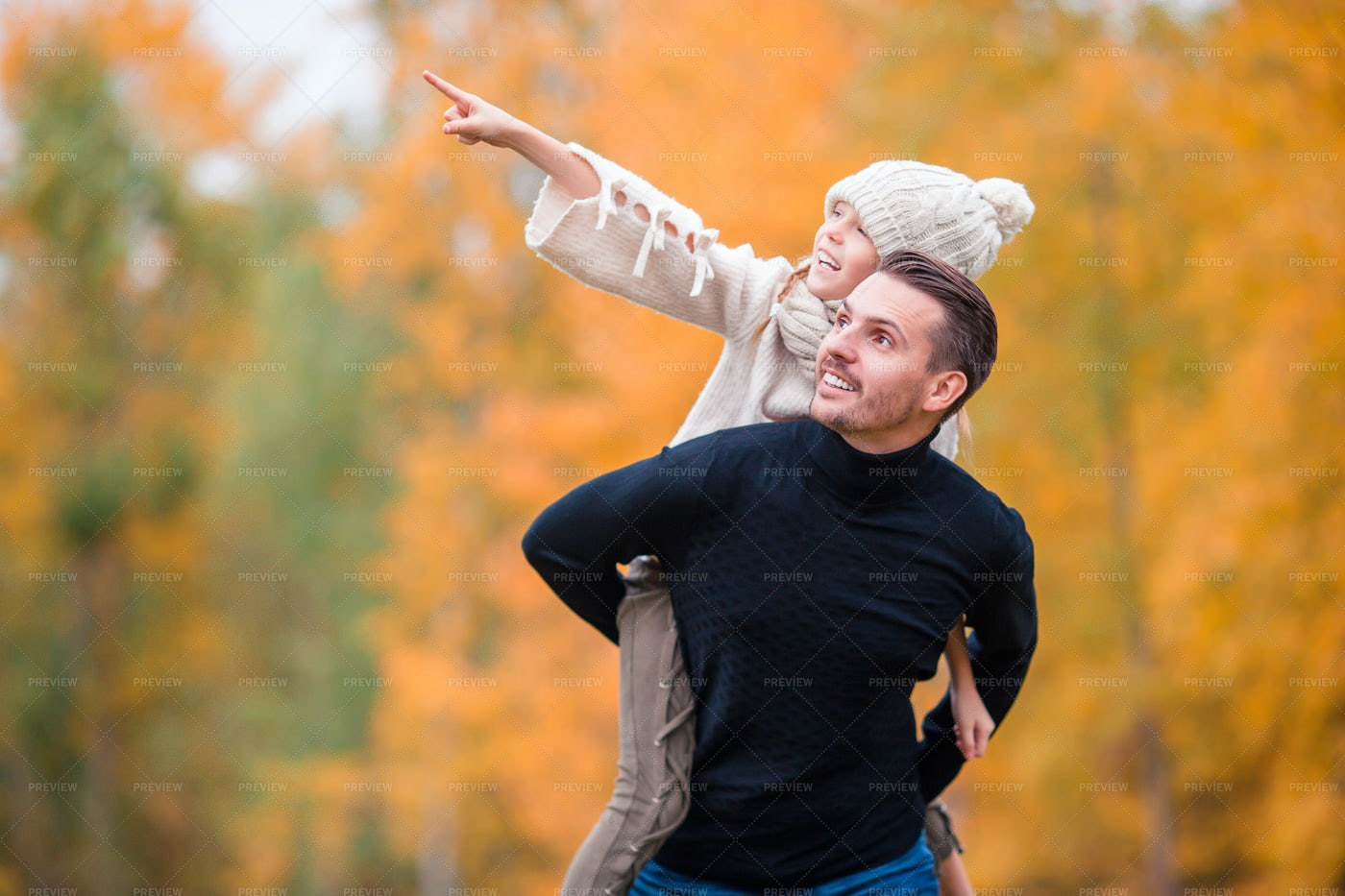 Hanging Around With Father At The Park: Stock Photos