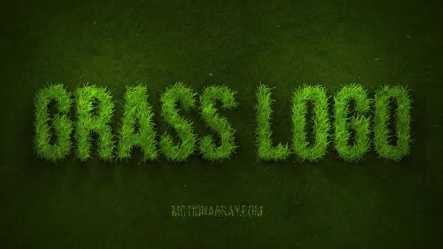 Grow Grass Logo: After Effects Templates
