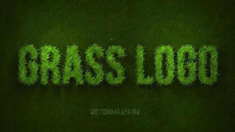 Grow Grass Logo: After Effects Templates