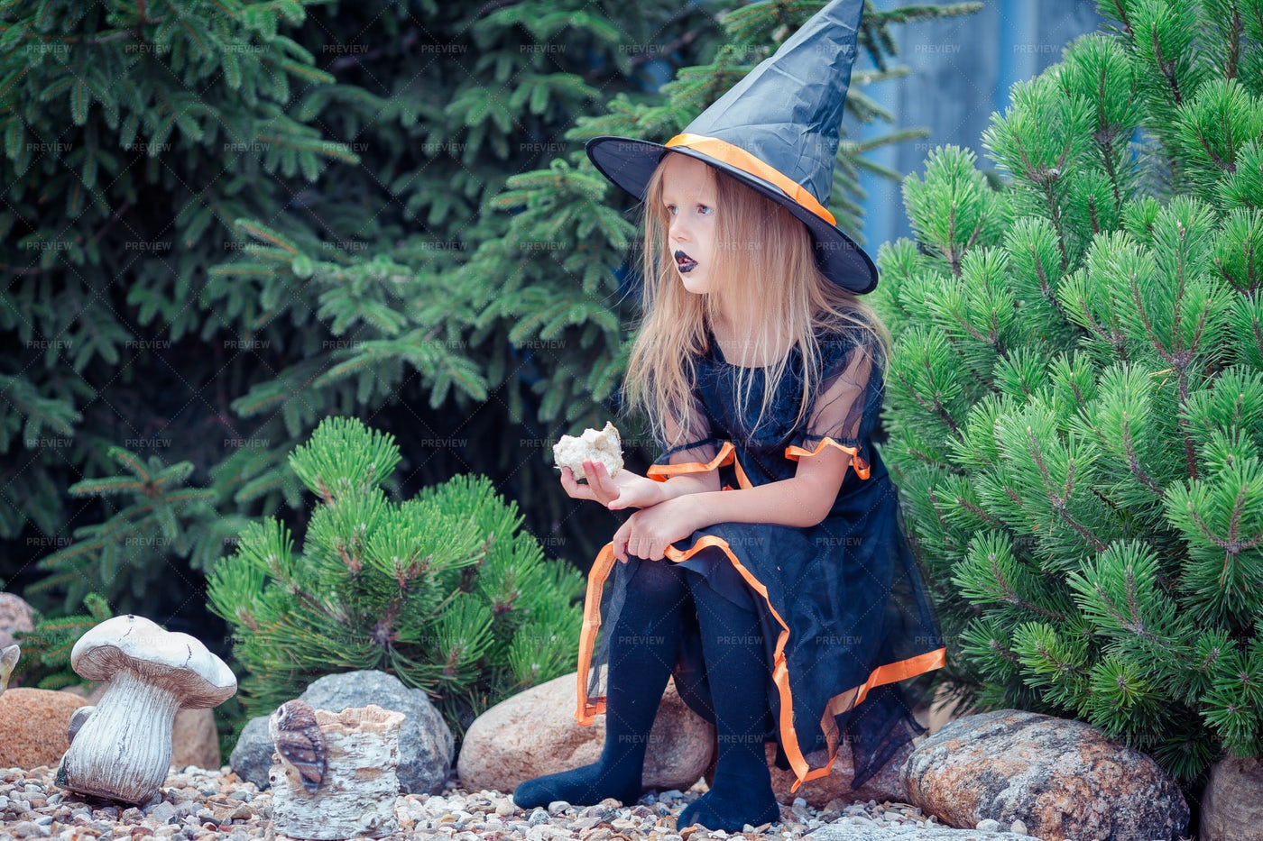 Little Girl In Halloween Costume: Stock Photos