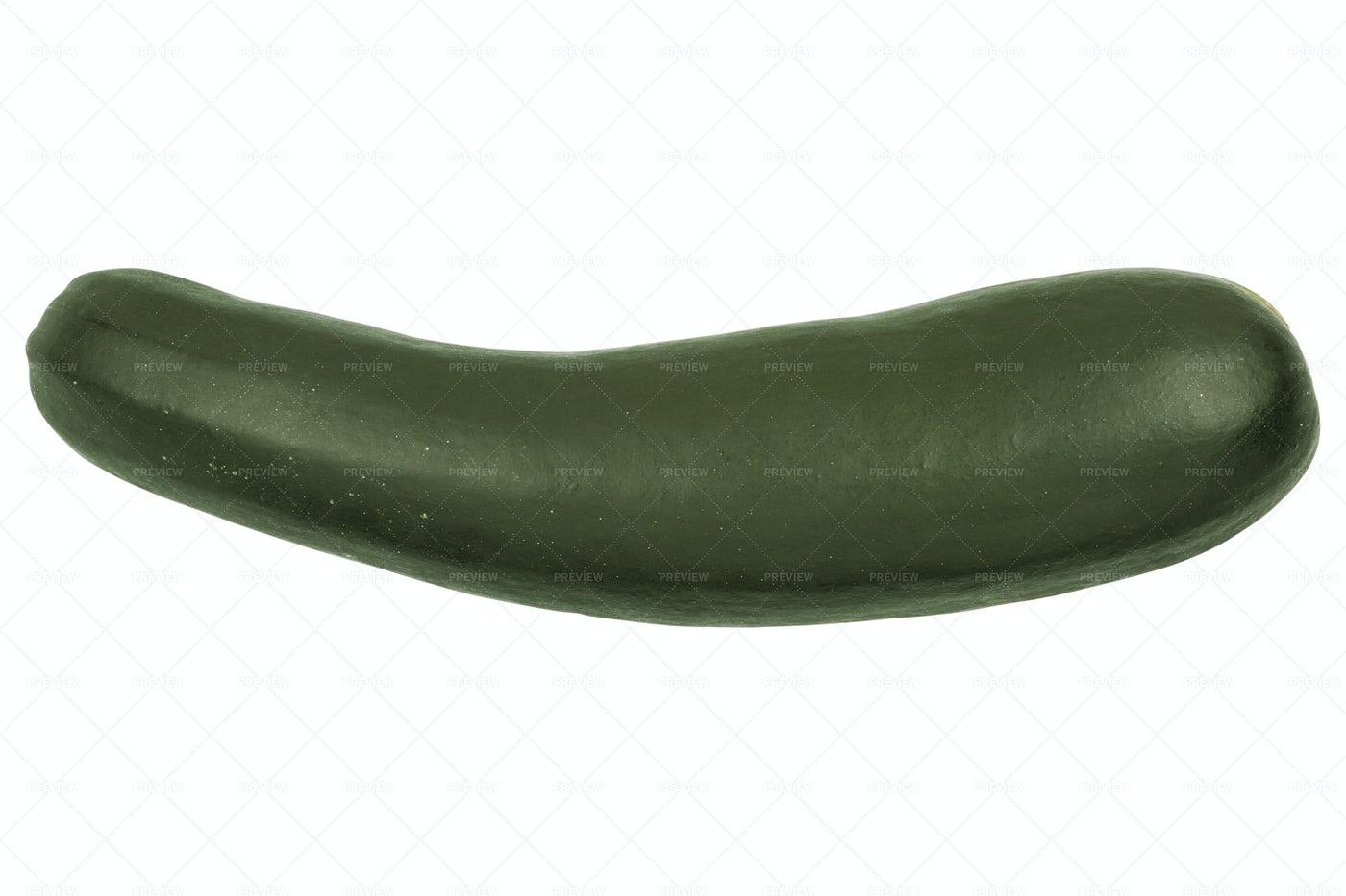 Zucchini On A White Background: Stock Photos