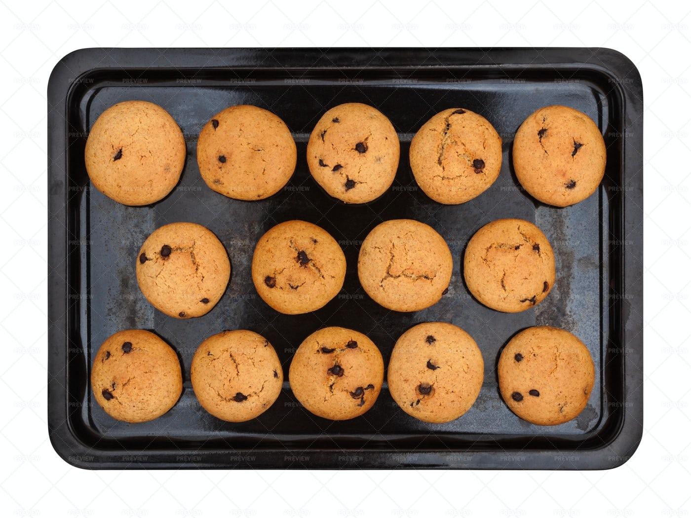 Cookies With Chocolate: Stock Photos
