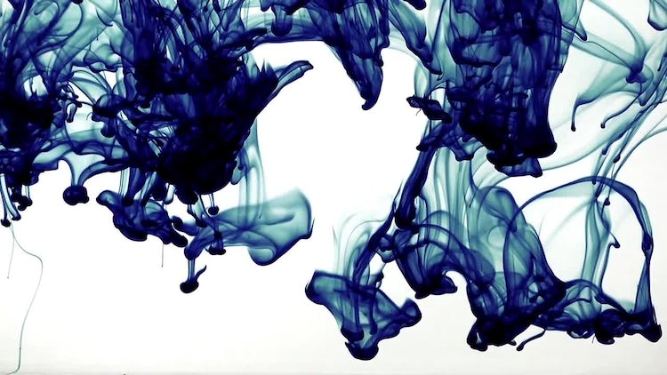 Abstract Ink Downward Blue: Stock Video