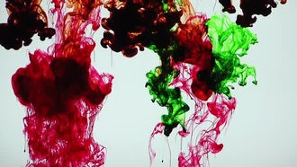 Red and Green Ink Blend: Stock Video