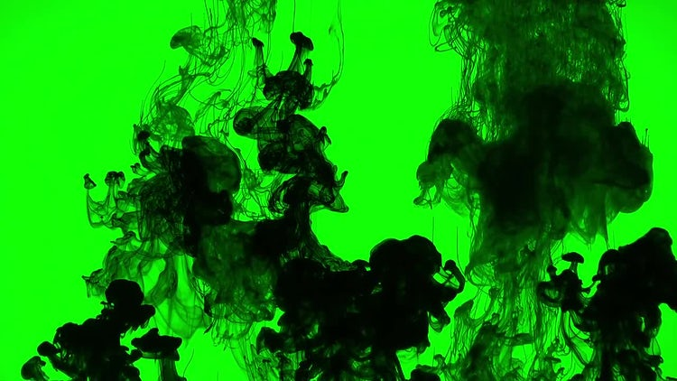 Abstract Ink Paint Over Green: Stock Video