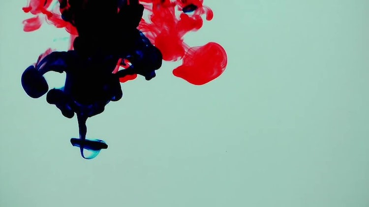 Dark Blue and Red Ink: Stock Video