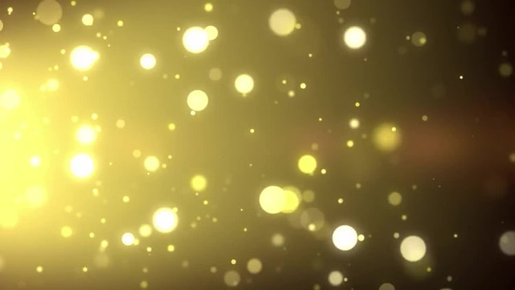 Blowing Golden Particles: Motion Graphics