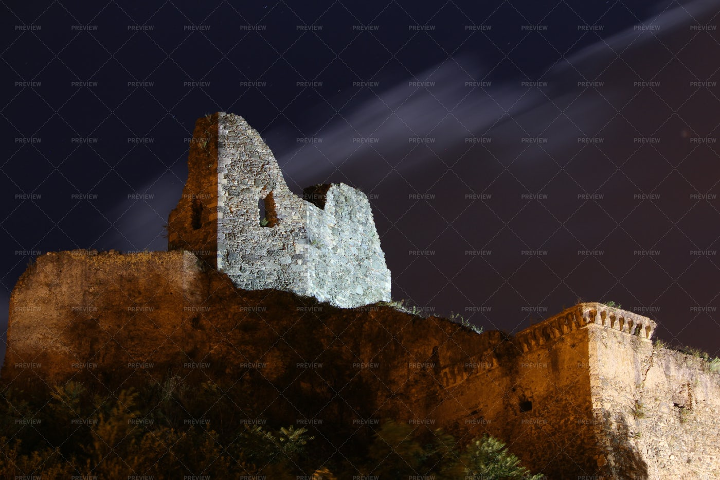 Old Norman's Castle, South Italy: Stock Photos