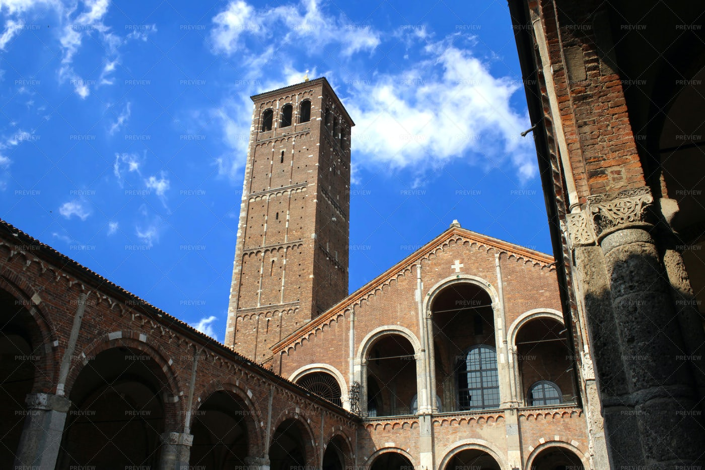 Saint Ambrose Cathedral, Milan, Italy: Stock Photos