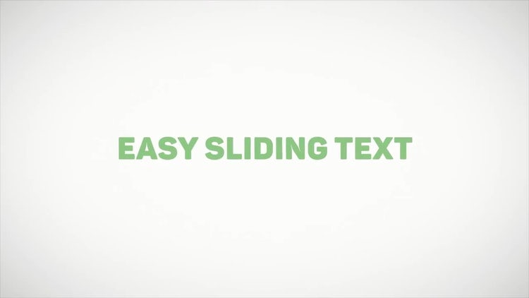 Easy Sliding Text: After Effects Templates