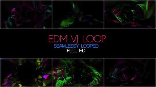 EDM VJ Loop: Stock Motion Graphics
