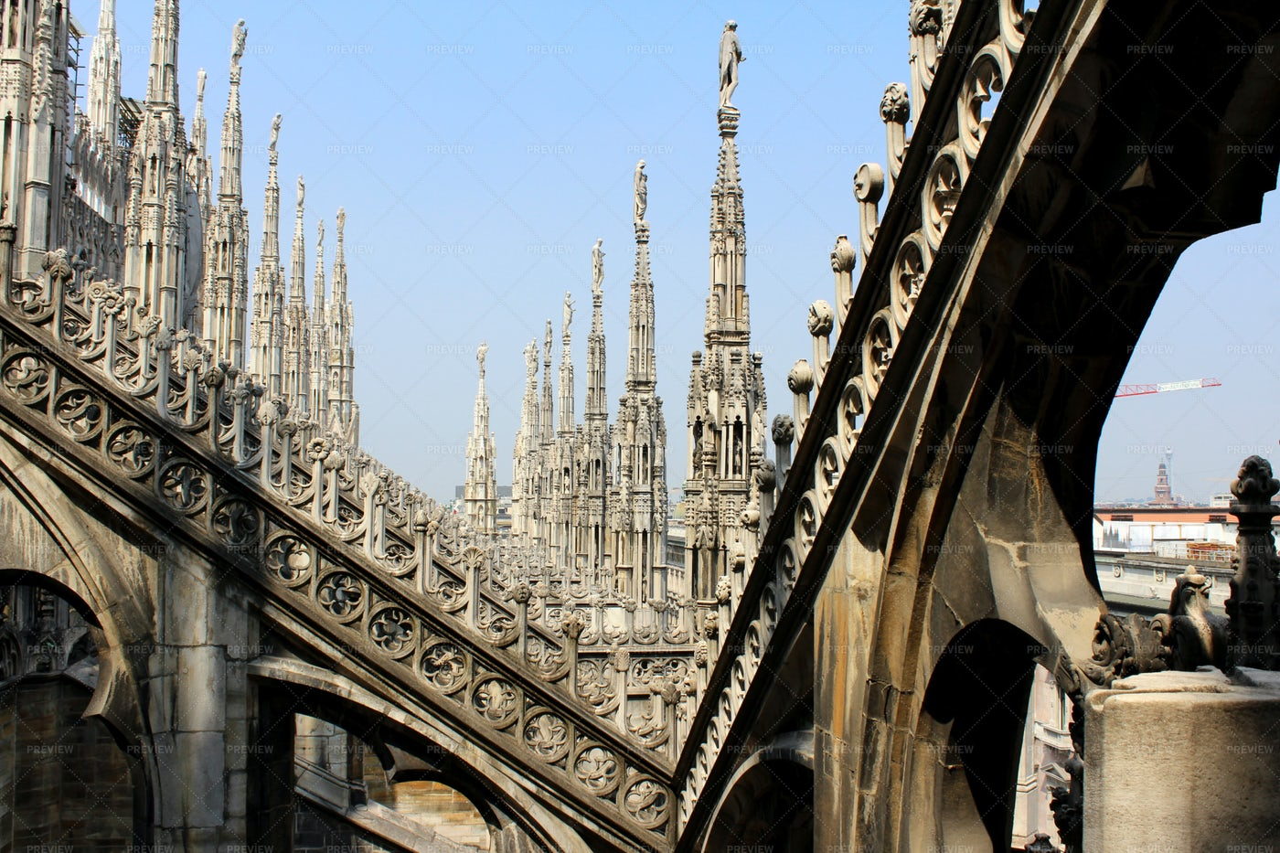 Spires Of The Cathedral Of Milan, Italy: Stock Photos