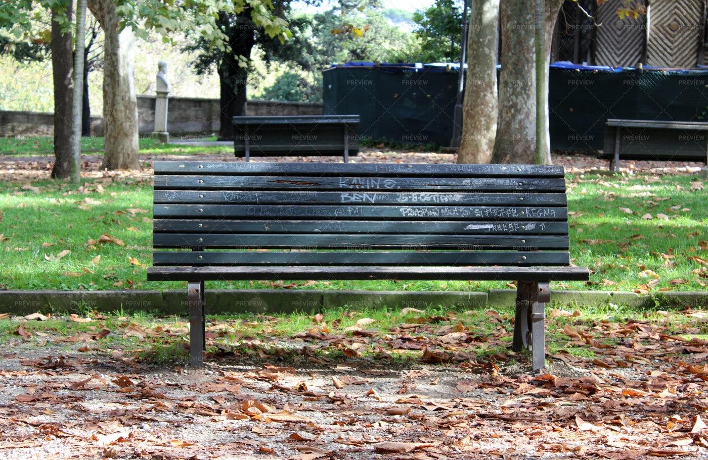 Bench In A Park: Stock Photos