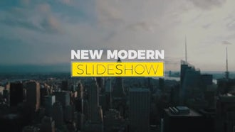 New Modern Slideshow: Premiere Pro Templates