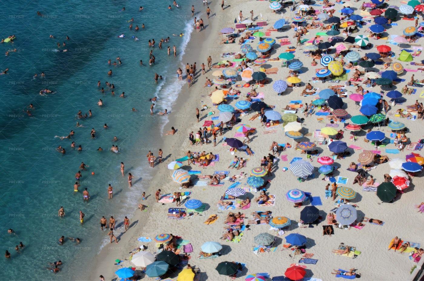 Tourist On A White Sand Beach: Stock Photos