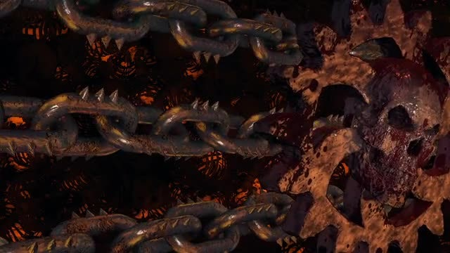 Rusty Cogwheels And Chains: Stock Motion Graphics