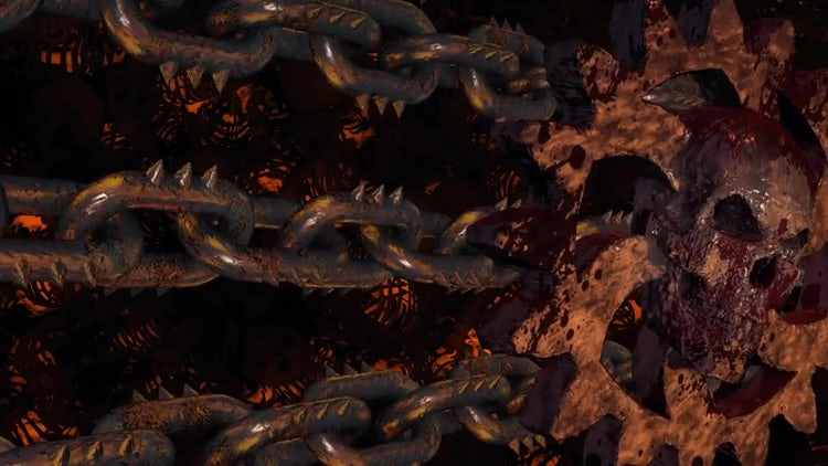 Rusty Cogwheels And Chains: Motion Graphics
