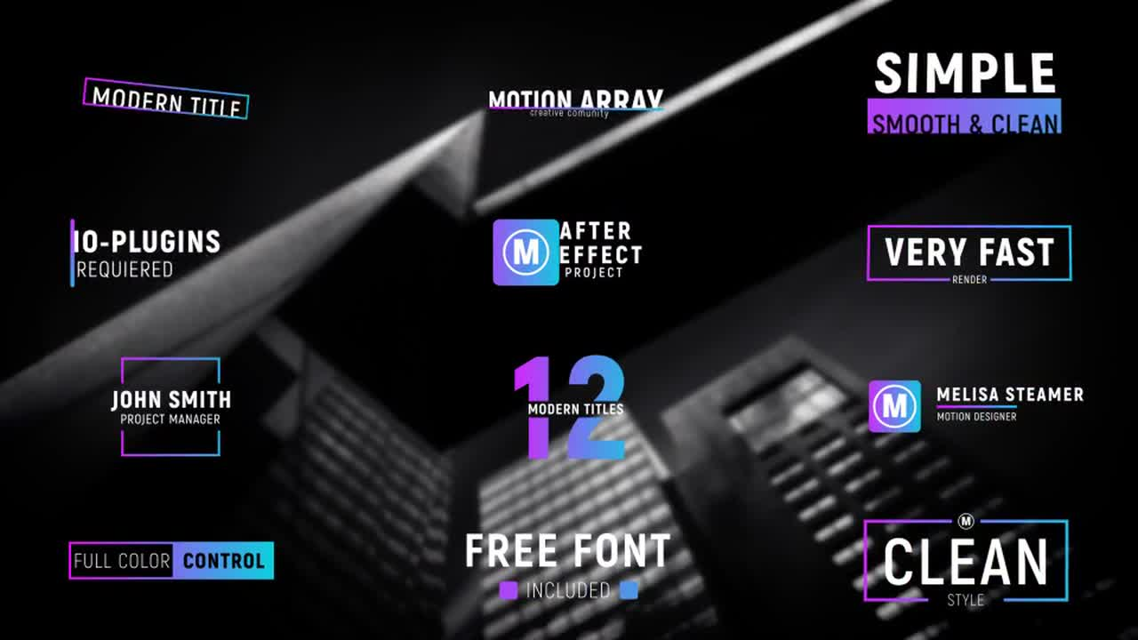 adobe after effects title templates free - 12 modern titles after effects templates motion array