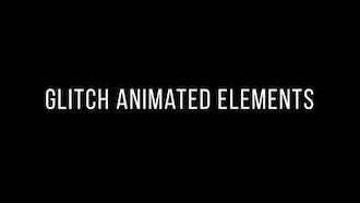 Glitch Animated Elements: Premiere Pro Templates