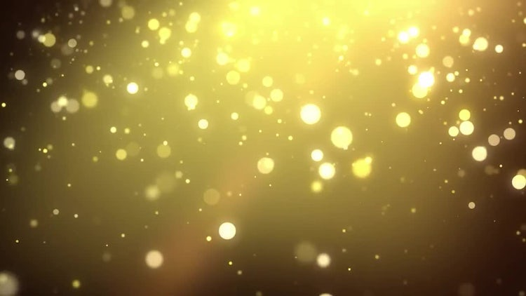 Golden Particle Shower: Motion Graphics