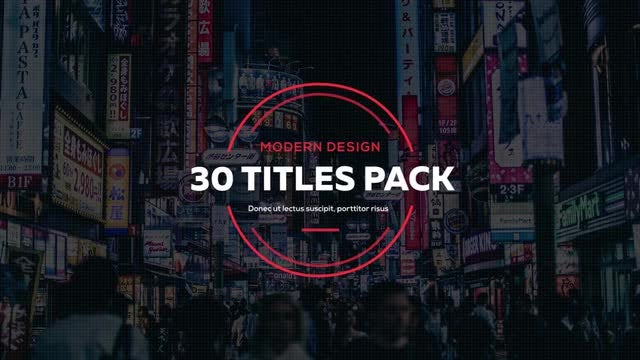 30 Creative Titles: Premiere Pro Templates