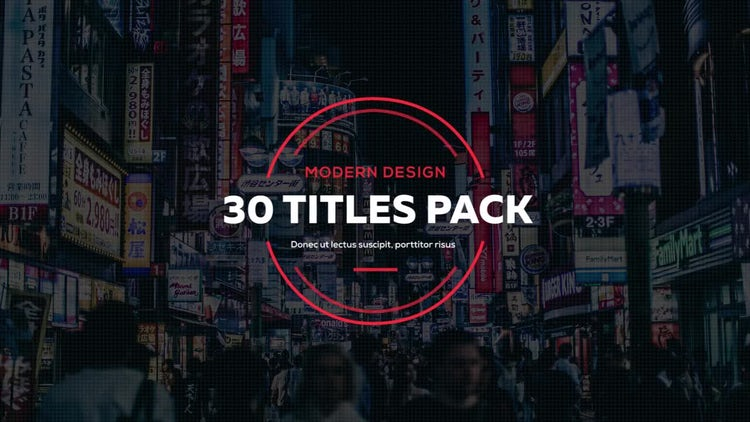 30 Creative Titles: Premiere Pro Templates