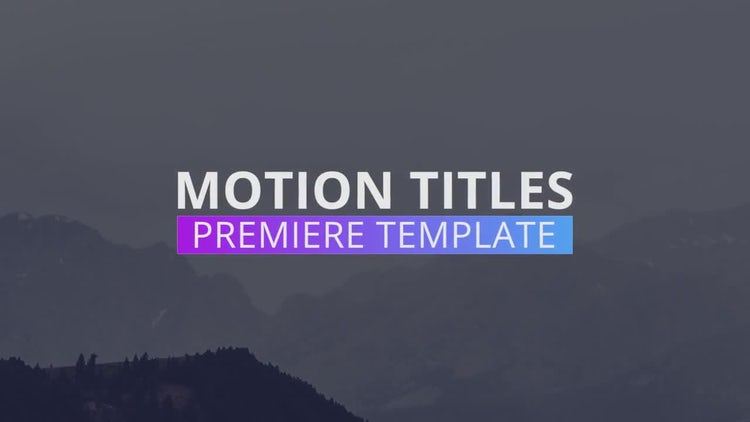 New Minimal Titles: Premiere Pro Templates