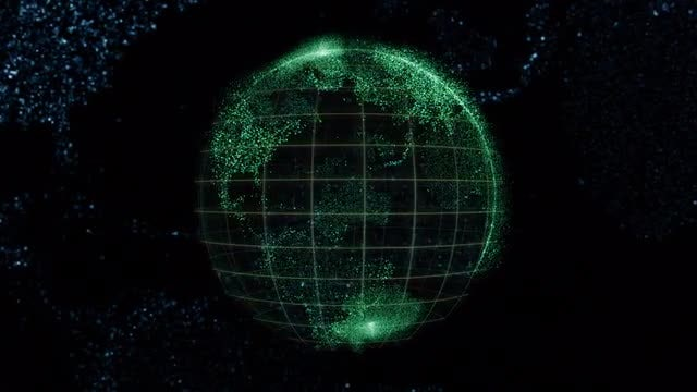 Digital Globe Background: Stock Motion Graphics