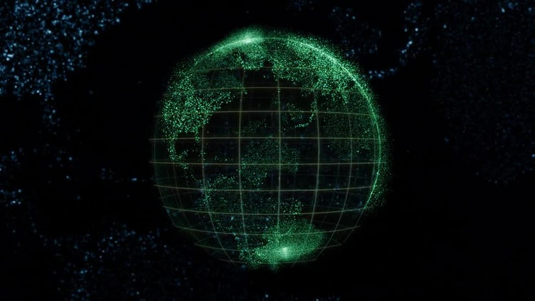Digital Globe Background: Motion Graphics