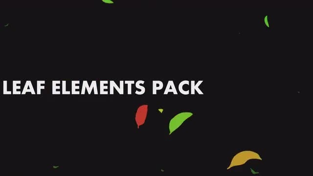 Leaf Elements Pack: Stock Motion Graphics