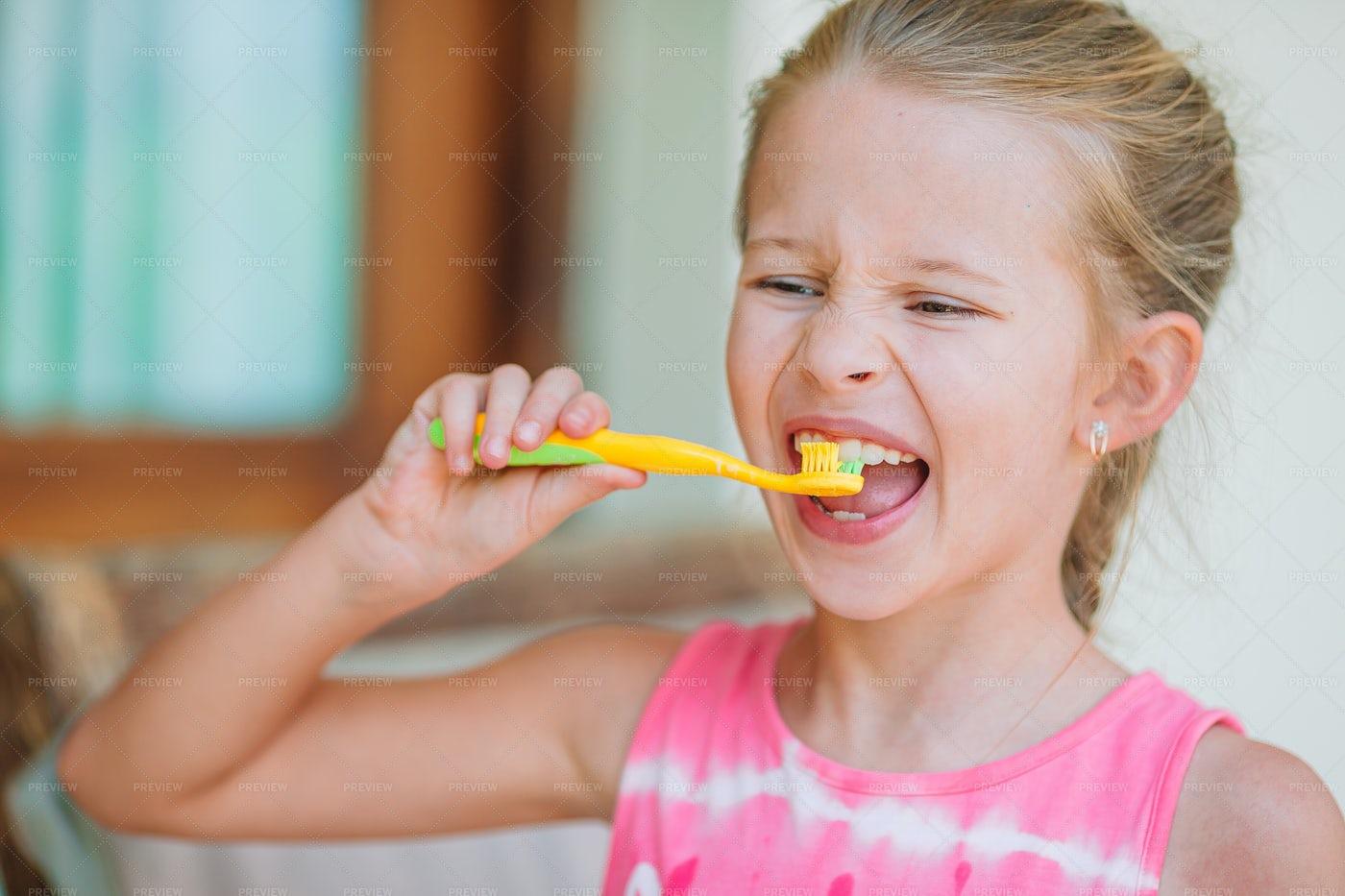 Child Brushing Teeth: Stock Photos
