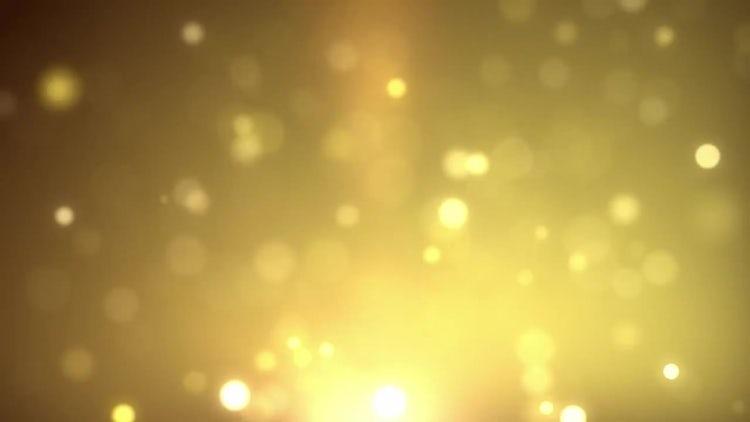 Golden Particles: Motion Graphics
