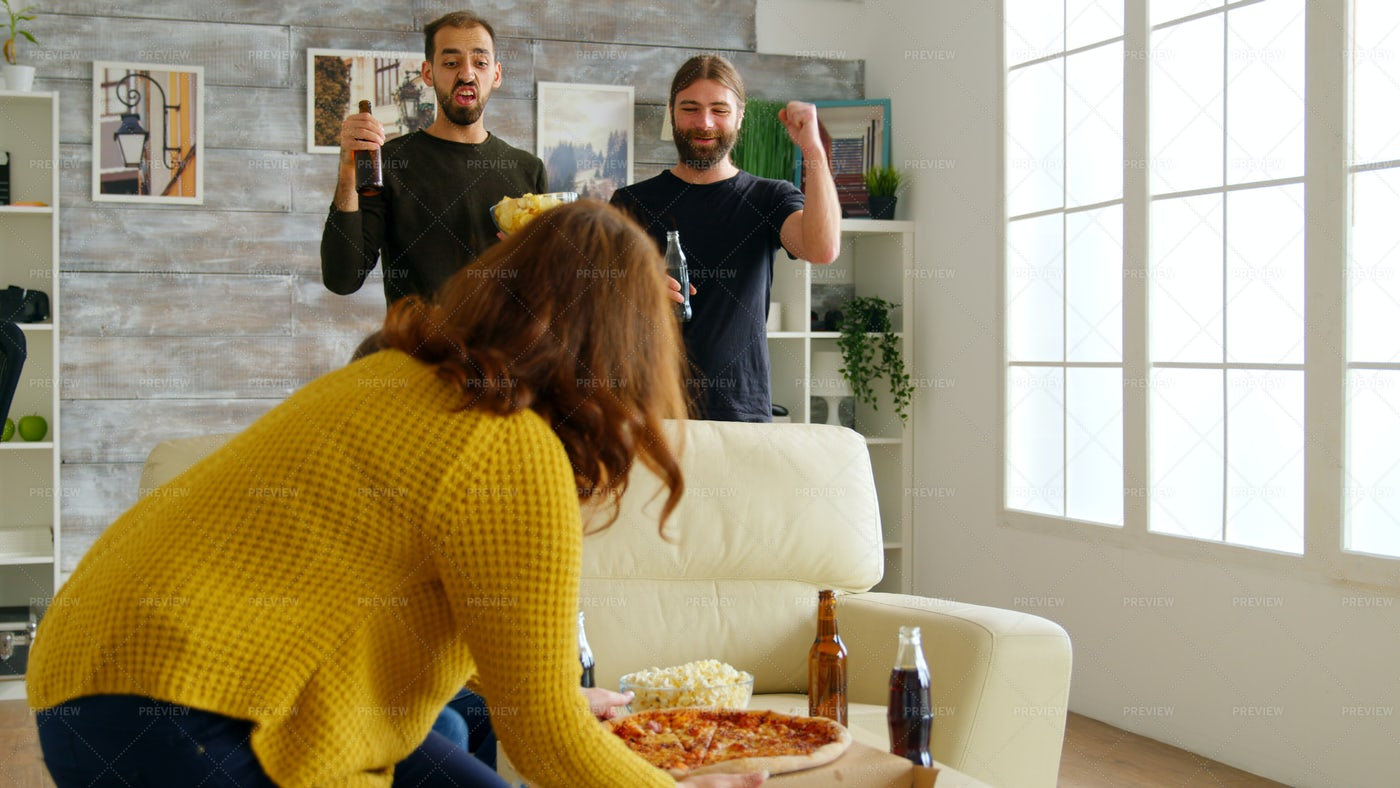 The Pizza Is Here: Stock Photos
