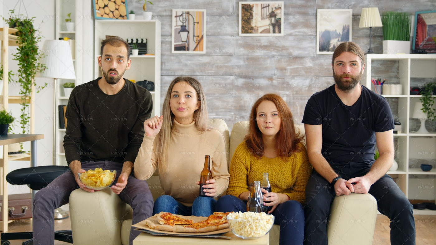 Watching A Movie Together: Stock Photos