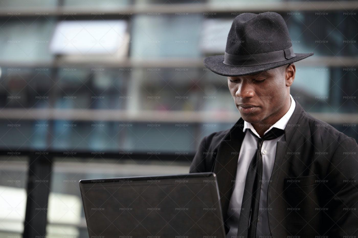 Businessman Using A Computer: Stock Photos