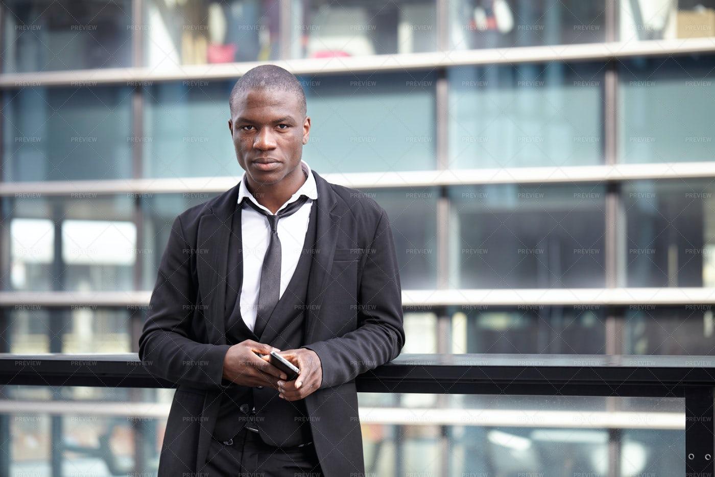 Man Outside A Building: Stock Photos
