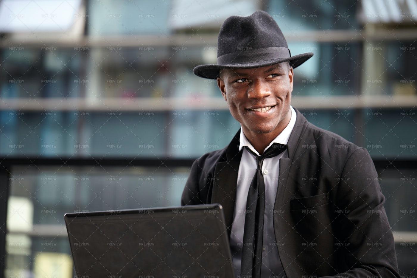 Businessman Is Content: Stock Photos