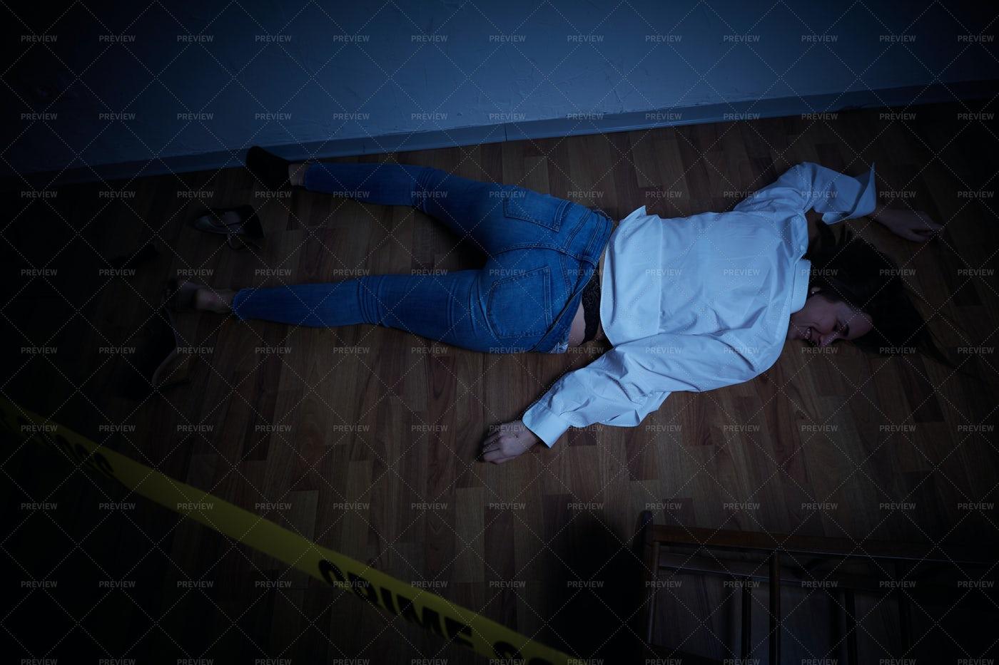 Crime Scene Body: Stock Photos