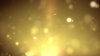 Rising Golden Particles: Motion Graphics