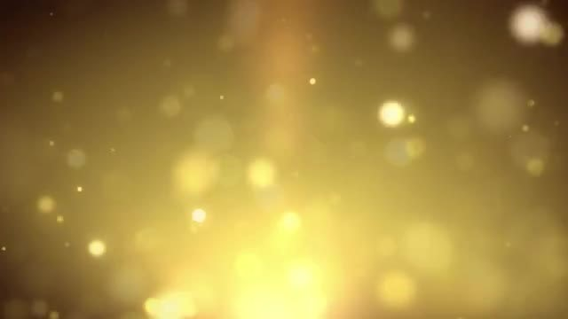 Rising Golden Particles: Stock Motion Graphics