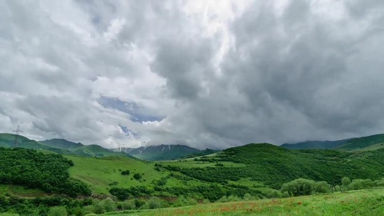 4K Green Hills Timelapse: Stock Video