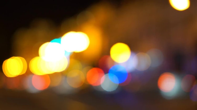 Car Bokeh Lights: Stock Video