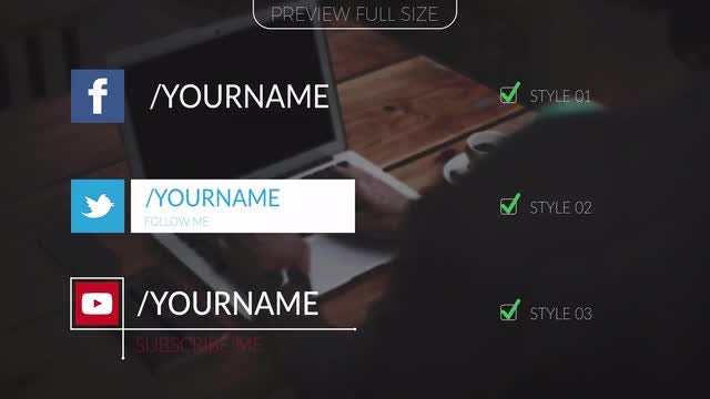 Social Media Titles V1: After Effects Templates