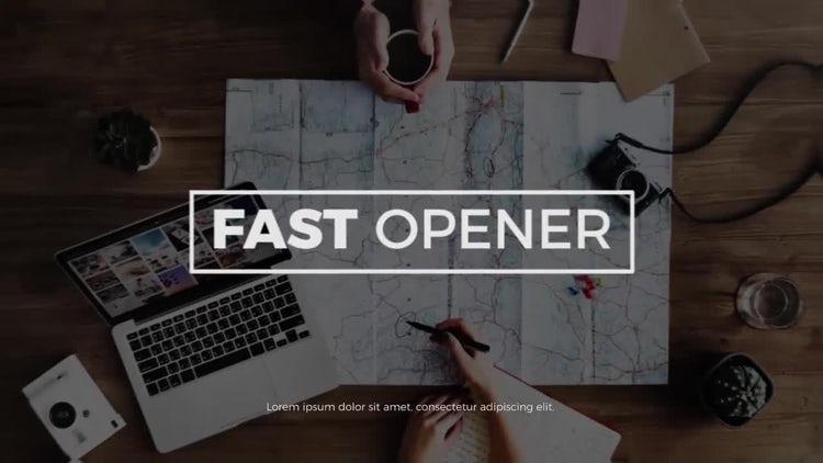 Fast Opener: Premiere Pro Templates