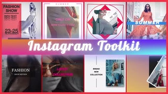 Instagram Toolkit Fashion: After Effects Templates
