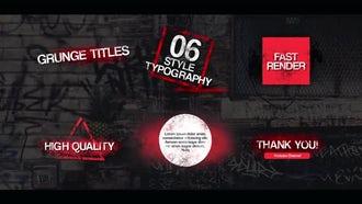 Grunge Typography: Premiere Pro Templates