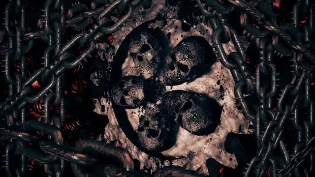 Skull Gear With Chains: Stock Motion Graphics