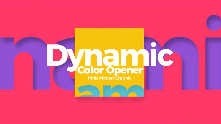 Dynamic Color Opener: After Effects Templates