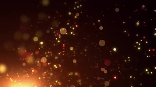 Rising Fiery Particles: Stock Motion Graphics